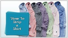 How to Strip a Shirt for Fabric :: by Babs at Fiery Phoenix