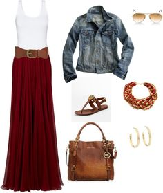 Now that I see what a burgundy maxi looks like as an outfit, I think I'll make one with the fabric I have.