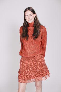 Ambra Knit T-neck - Carnelian by Second Female Carnelian, High Neck Dress, Female, Knitting, Sweaters, Dresses, Fashion, Turtleneck Dress, Vestidos