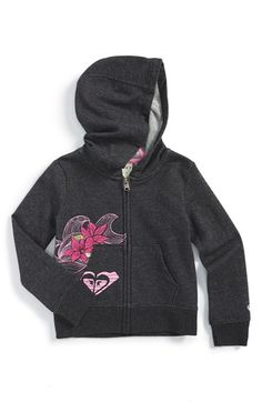 Roxy 'Catch a Wave' Graphic Hoodie (Toddler Girls & Little Girls)