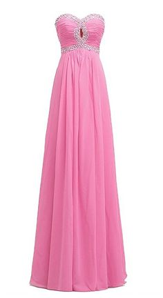Endofjune Simple Sequined Waist Chiffon Bridesmaid Dresses Atmosphere US-8 Peach *** Click on the image for additional details. (This is an affiliate link and I receive a commission for the sales)