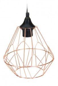 Lampa geometryczna druciana - miedziana nr.1