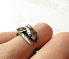 Bunny ring! USD$8.95 from Etsy