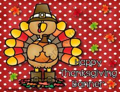 Happy Thanksgiving Banner from Ragsdales Riches on TeachersNotebook.com -  (12 pages)  - This a cute and adorable Thanksgiving Banner for any room.