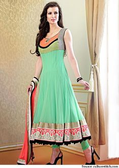 9 Designer Neon Anarkali Suits to Flaunt Colors - LooksGud.in