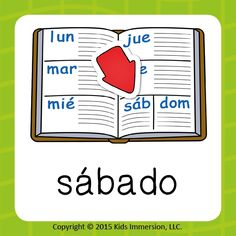 """Today's #WordOfTheWeek brings us to the hands-down best day! The one for relaxing, being productive, taking adventures or any combo you can think of! To help your students remember how to say #Saturday in #Spanish, just remind them it's the only day of the week that starts w/ an """"S""""! #earlyed #earlylang #elementary #edchat"""