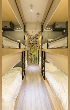 The Mahjong, Hong Kong Student Room, Student House, Cool Bunk Beds, Bunk Rooms, Boarding House, Bunk Bed Designs, Dormitory, Bedroom Layouts, Cafe Interior