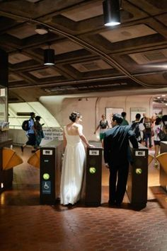 Washington-DC-Metro-Wedding....no that I would to this, but I love the idea!