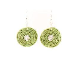 Large Disk Spiral Earrings  http://www.basketsfromafrica.com/items/swazi-sisal-jewelry/SJE02FN-detail.htm