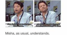 Misha justifying Destiel x]