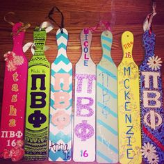 Pi Phi paddle #piphi #pibetaphi THE ONE ON THE LEFT IS MY PADDLE!!!!