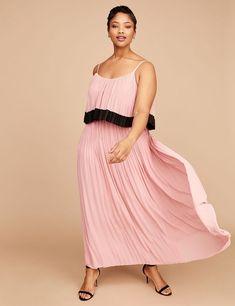 8c89ff148a03e4 NEW LANE BRYANT BLUSH TIERED PLEATED MAXI DRESS SZ 18 20  fashion  clothing  · Plus Size ...