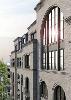 Wohnhaus mit 45 Wohneinheiten, Berlin Charlottenburg Architecture is a Costly Part! New Classical Architecture, Revival Architecture, Brick Architecture, Classic Architecture, Commercial Architecture, Architecture Details, Building Exterior, Building Facade, Building Design