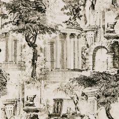 Babylon Ruins Black & White Wallpaper - W0038/05