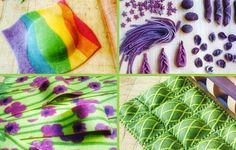 These multicolored pasta recipes are dyed with organic vegetables and spices.