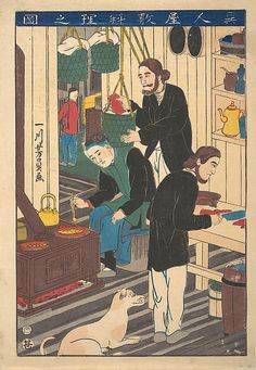 Utagawa Yoshikazu (Japanese, active ca. 1850–1870). Inside a Foreign Restaurant, October 1860. The Metropolitan Museum of Art, New York. Bequest of William S. Lieberman, 2005 (2007.49.153)