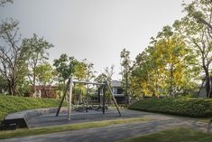 Burasiri Khon Kaen Landscape Design by Shma Landscape Architecture, Landscape Design, Khon Kaen, Urban Planning, Habitats, Playground, Sidewalk, Garden, Plants
