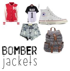"""""""Bass"""" by natasha-maria-louise-mason on Polyvore featuring Converse, Aéropostale and bomberjackets"""