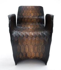 Joris Laarman Lab 3D printed hexagon chair