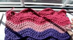 Crochet Lessons - How to work the ripple - weave stitch - Variation - Pa...