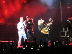 Brian May, Roger Taylor and Adam Lambert, Moscow show | source: Twitter anilvain