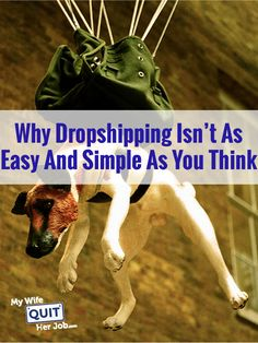 Why Dropshipping Isn't As Easy And Simple As You Think Many of the questions that I receive in my inbox at My Wife Quit Her job are related to opening a dropshipping store and I can certainly understand the appeal. Work From Home Jobs, Make Money From Home, How To Make Money, Business Tips, Online Business, Business Essentials, Business Website, Dropshipping Suppliers, Wordpress