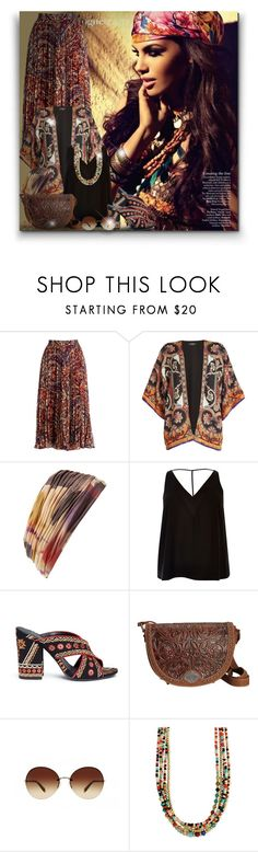 """""""Hippie! - Contest!"""" by asia-12 ❤ liked on Polyvore featuring Haute Hippie, Etro, L. Erickson, River Island, Ash, Montana West and Oliver Peoples"""