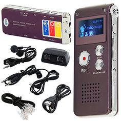 #Buy #Rechargeable 8GB Steel Digital Voice #Sound #Phone #Recorder - £ 9.42   @xpressbuyeruk