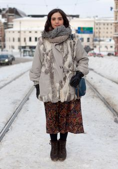 Raquel - Hel Looks - Street Style from Helsinki    I especially love her scarves.