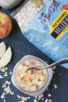 An easy recipe for Apple Cinnamon Overnight Oats. A healthy, make ahead breakfast for busy mornings!