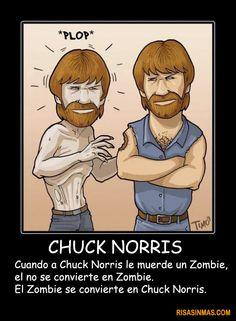 Idea - every week give a chuck Norris fact en Español?. Chuck Norris y los Zombies. visto en http://bit.ly/zK3Wlx