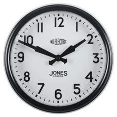 Buy Jones & Co Apollo Clock Black from our Clocks range - Tesco.com