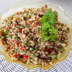 """Quinoa Tabbouleh I """"This is a great recipe, and a nice twist on traditional bulgar tabbouleh. The quinoa gives it a very nice texture, and the addition of shredded carrots gives it some sweetness, which complements the lemony tang."""""""