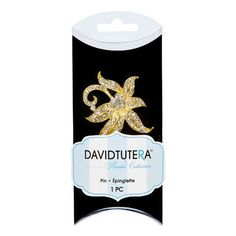 Bulk Buy: Darice DIY Crafts David Tutera Rhinestone Flower Pin Gold 2.25 inches (3-Pack) DT1306183G ** Read more at the image link.