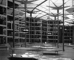 ARQUITECTURA TRAS IIGM - ESPAÑA - ARQ. 60'S - El Pabellón de los Hexáganos(para la Exposición Bruselas de 1958)