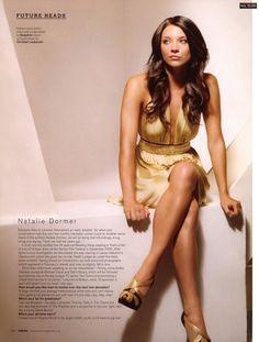 Natalie Dormer, beautiful hair and golden shimmery dress - lovely for summer!