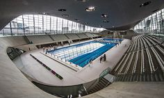 The Aquatics Centre at the Olympic Park in Stratford, east London reopened March 2014. Photograph: David Levene for the Guardian