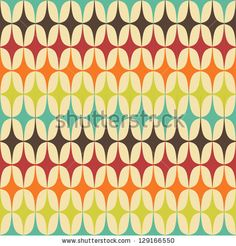 Abstract Retro Geometric Seamless Pattern With Triangles. Vector Illustration - 129166550 : Shutterstock