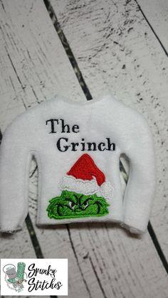 Grinch Santa Peeker Mini