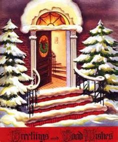 winter scenes christmas cards vintage 1950s - Looksafe Yahoo Image Search Results