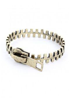 Zip Retro Metal Bracelet  http://rstyle.me/n/dzqeunyg6
