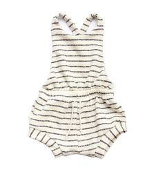 romper shortie in natural stripe
