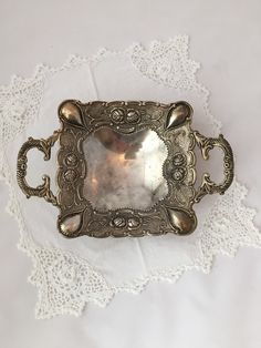 A personal favorite from my Etsy shop https://www.etsy.com/ca/listing/254068209/ornate-silver-soapdish-silver-plate