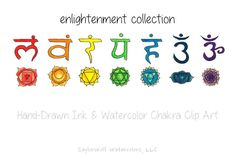 Hand Drawn Chakra Clip Art by SaylorWolf Watercolors on Creative Market