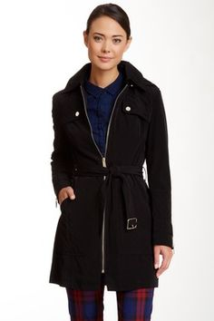 Kenneth Cole Quilted Trench Coat