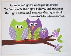 Promise Me in family of three-Children's Wall Art Decor Baby Girl Nursery Decor by vtdesigns, $14.00