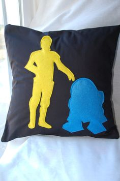R2D2 C3PO pillow. Star Wars