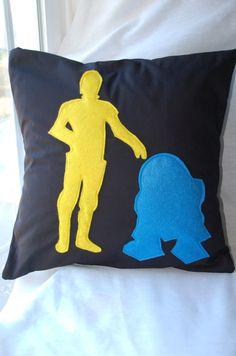#R2D2 #C3PO pillow.