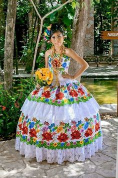 Have you been in the market for the ideal Quinceanera dress for the big day of yours? Don't miss out on these 5 tips for finding the perfect dress for your celebration. Mexican Quinceanera Dresses, Mexican Dresses, Mexican Outfit, Quinceanera Ideas, Traditional Mexican Dress, Traditional Dresses, Xv Dresses, Fashion Dresses, Vestido Charro