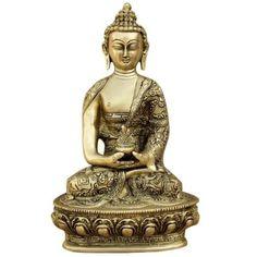 Amazon.com: Buddha Figurine Brass Religious Statue from India: Furniture & Decor